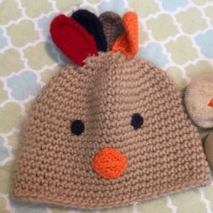 4cd98fb3d Carter's Accessories | Carters Turkey Hat And Booties | Poshmark